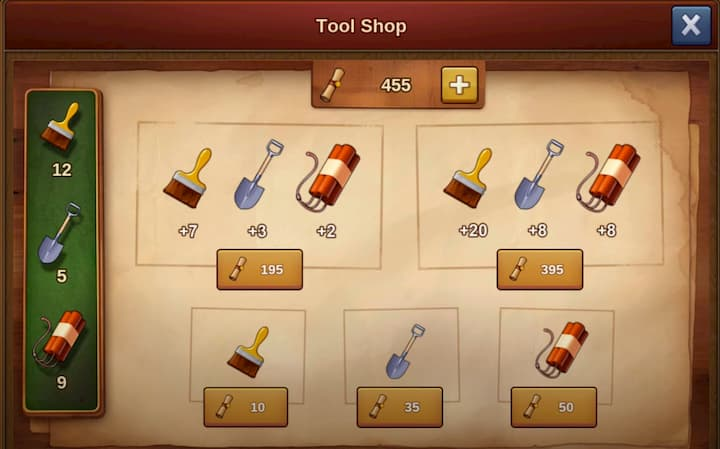 FoE Archaeology Event 2020 Tool Shop