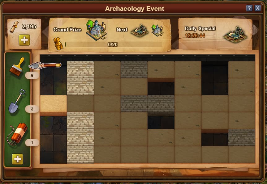 Archaeology Event Window