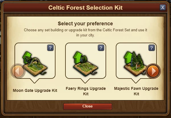 FoE St. Patrick's Event Celtic Forest Selection Kit