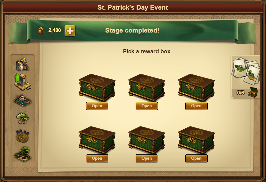FoE St. Patrick's Event Next Town Rewards