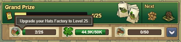Forge Of Empires St Patrics-Event upgrade hats factory to level 25