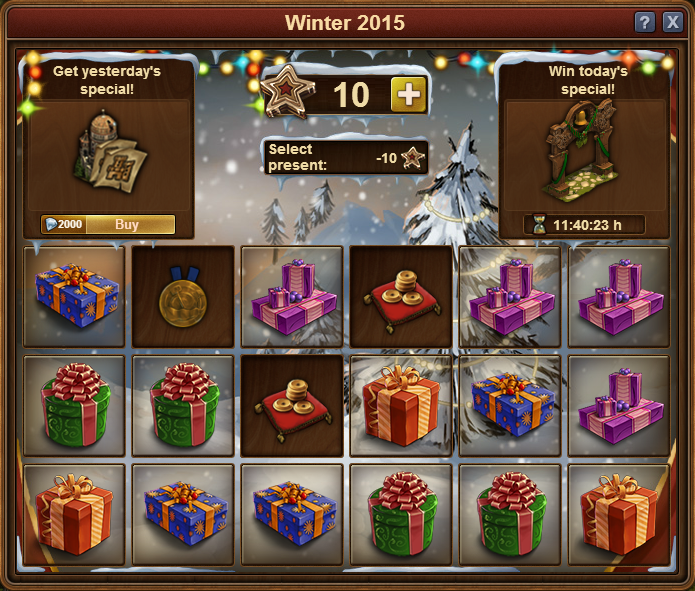 Forge of Empire Winter Event 2015