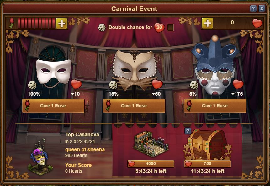 FoE Venice Carnival 2017 event window