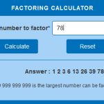Factoring calculator